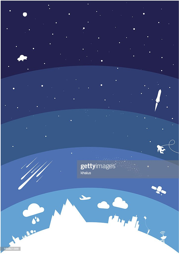 Planet atmosphere : stock illustration