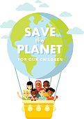 Planet Earth children concept
