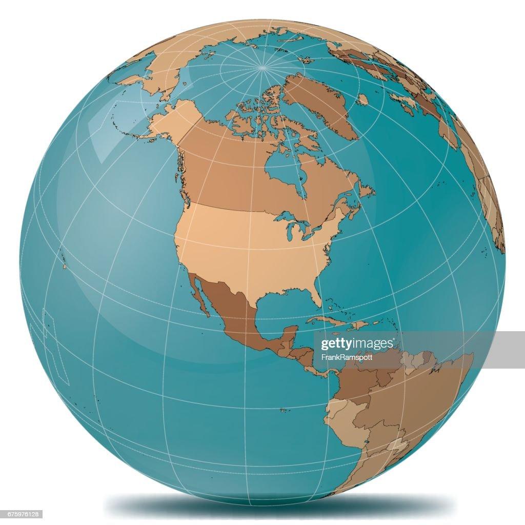 Planet Erde Länder USA : Stock-Illustration