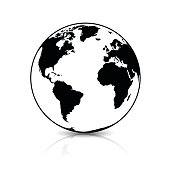 Planet Earth, Globe Icon Symbol
