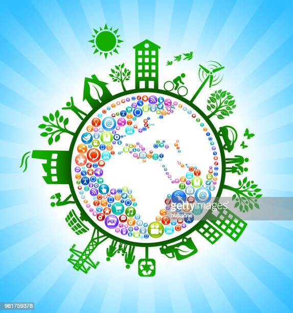 Planet Earth Internet Technology Green Environmental Conservation Background