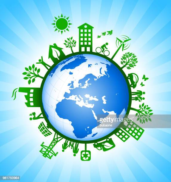 Planet Earth on Environmental Conservation Background