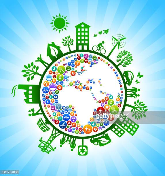 Planet Earth Summer Fun Green Environmental Conservation Background