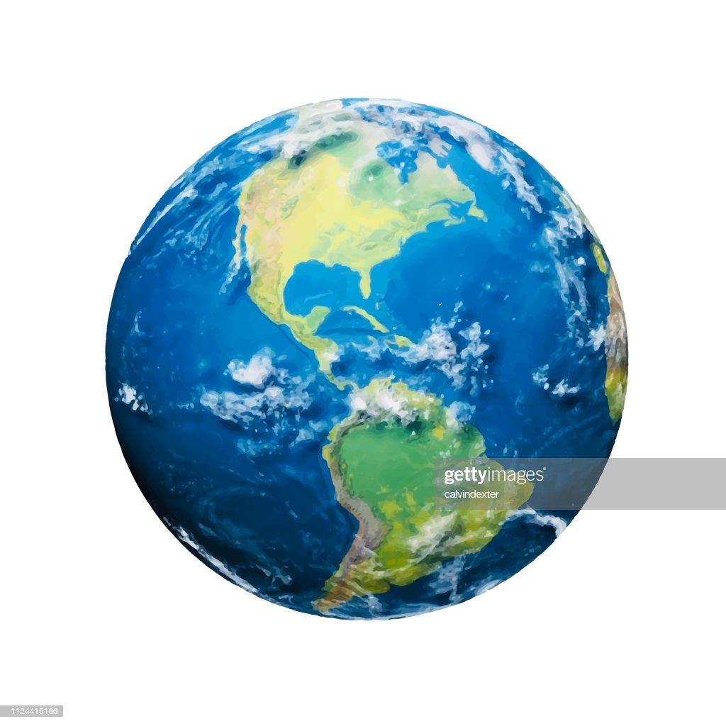 Planetenerde : Stock-Illustration