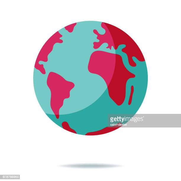 planet earth - global stock-grafiken, -clipart, -cartoons und -symbole
