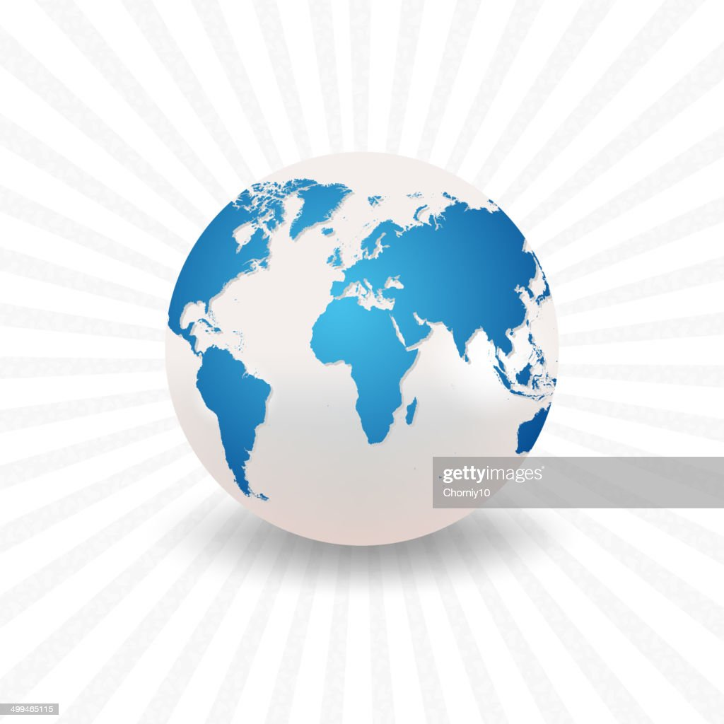 Planet earth with a realistic world map vector art getty images planet earth with a realistic world map vector art gumiabroncs Choice Image