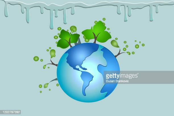 planet earth with trees - istock vector illustration - istock images stock illustrations
