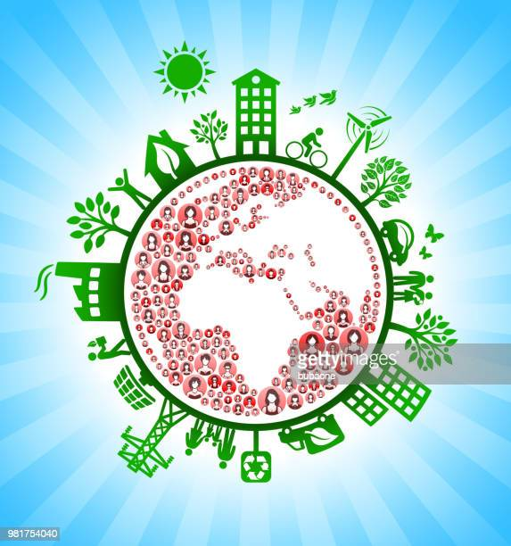 Planet Earth Women Green Environmental Conservation Background