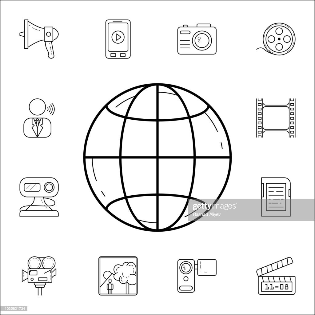 planet Earthicon. Media icons universal set for web and mobile