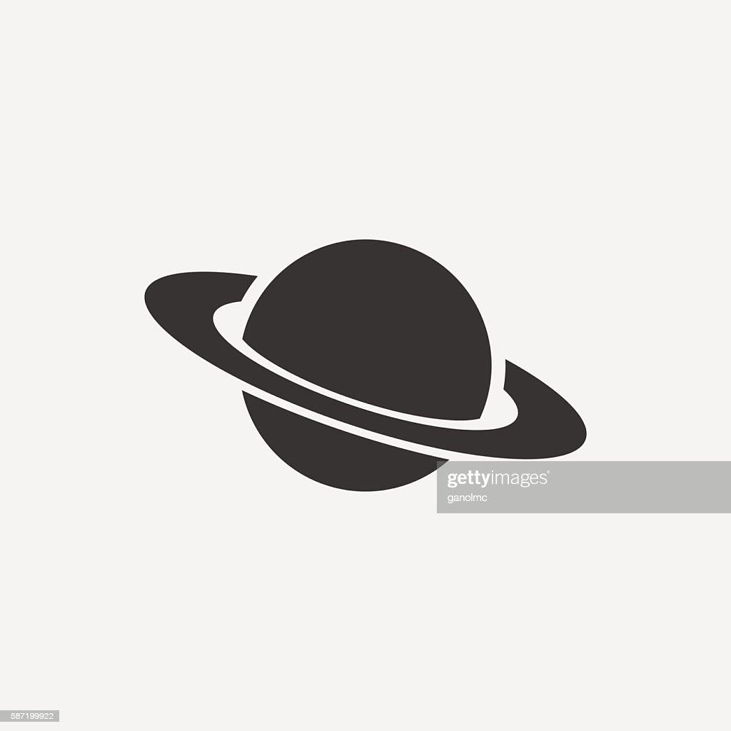 Planet icon. Vector illustration