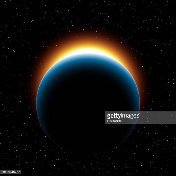 惑星の日の出 - 夜明け点のイラスト素材/クリップアート素材/マンガ素材/アイコン素材