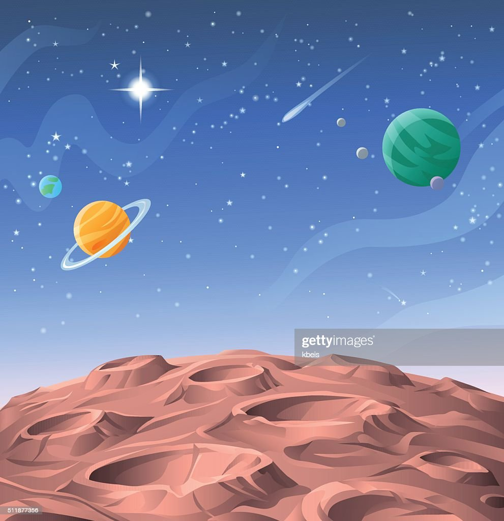 Planetary Oberfläche : Stock-Illustration
