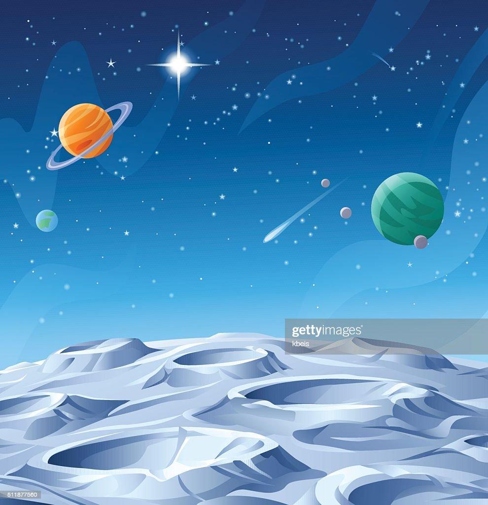Planetas y Asteroides : Ilustración de stock