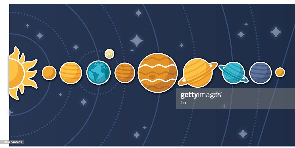 Planets and Solar System : stock illustration
