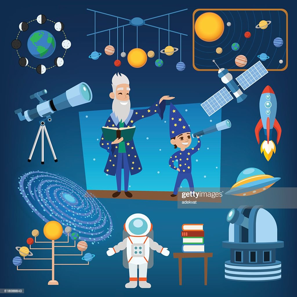 Planets and sun from our solar system astrology astronomy icons