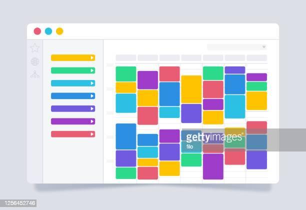 planner calendar scheduling organizer - agenda stock illustrations