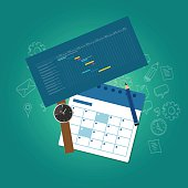 planning and scheduling time calendar timeline gantt chart