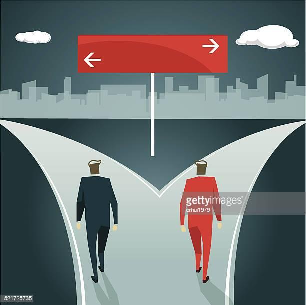 Planung, Wahl, Entscheidungen, Trennung Sie Richtung, Unsicherheit
