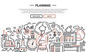 Planning - line design website banner temlate