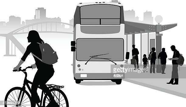 illustrations, cliparts, dessins animés et icônes de organisation de transport urbain - abribus