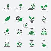 plant icon set