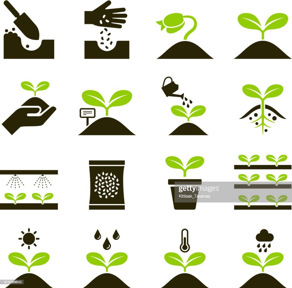 Plant icons.
