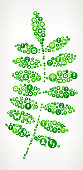 Plant Leaf  Nature and Environmental Conservation Icon Pattern