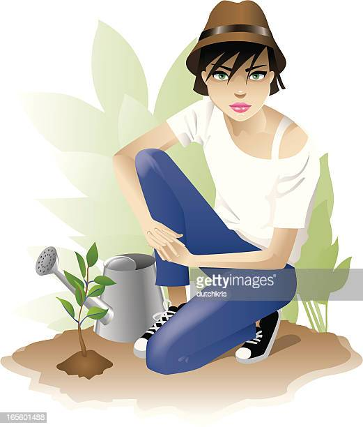 planting a future - jeans stock illustrations, clip art, cartoons, & icons