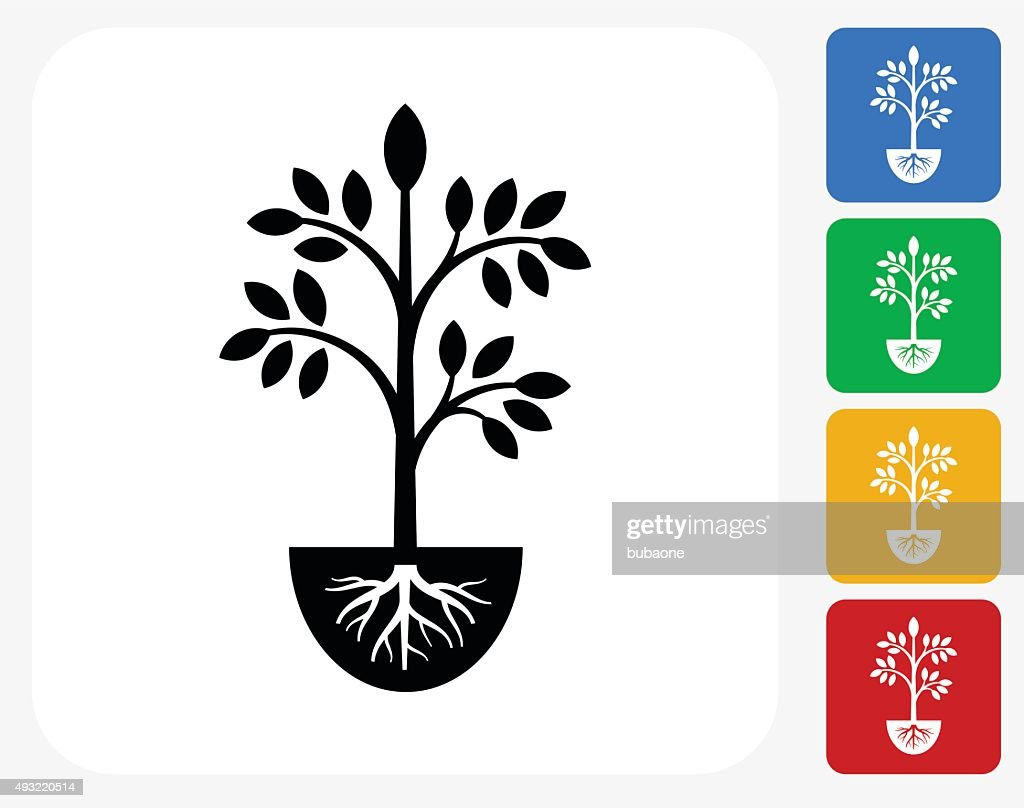 Plants Icon Flat Graphic Design