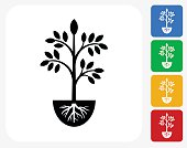 Plants Icon Flat Graphic Design