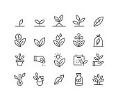 Plants Icons - Classic Line Series