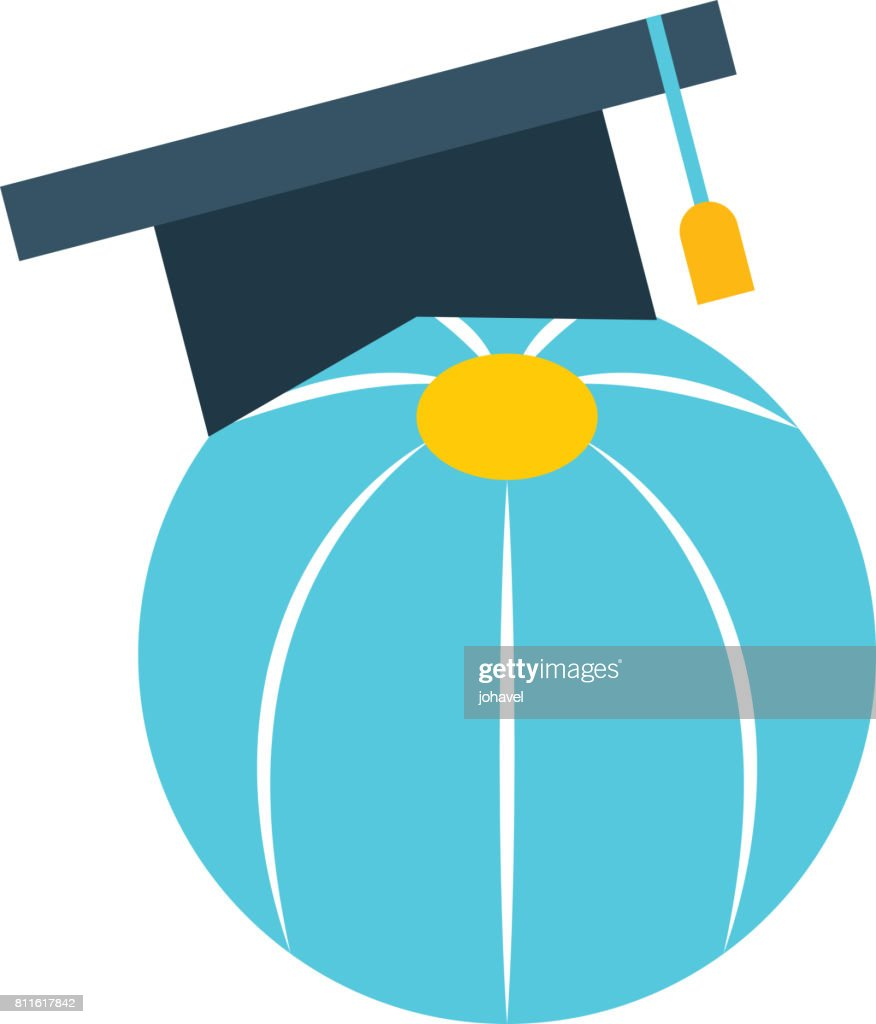 plastic balloon with hat graduation