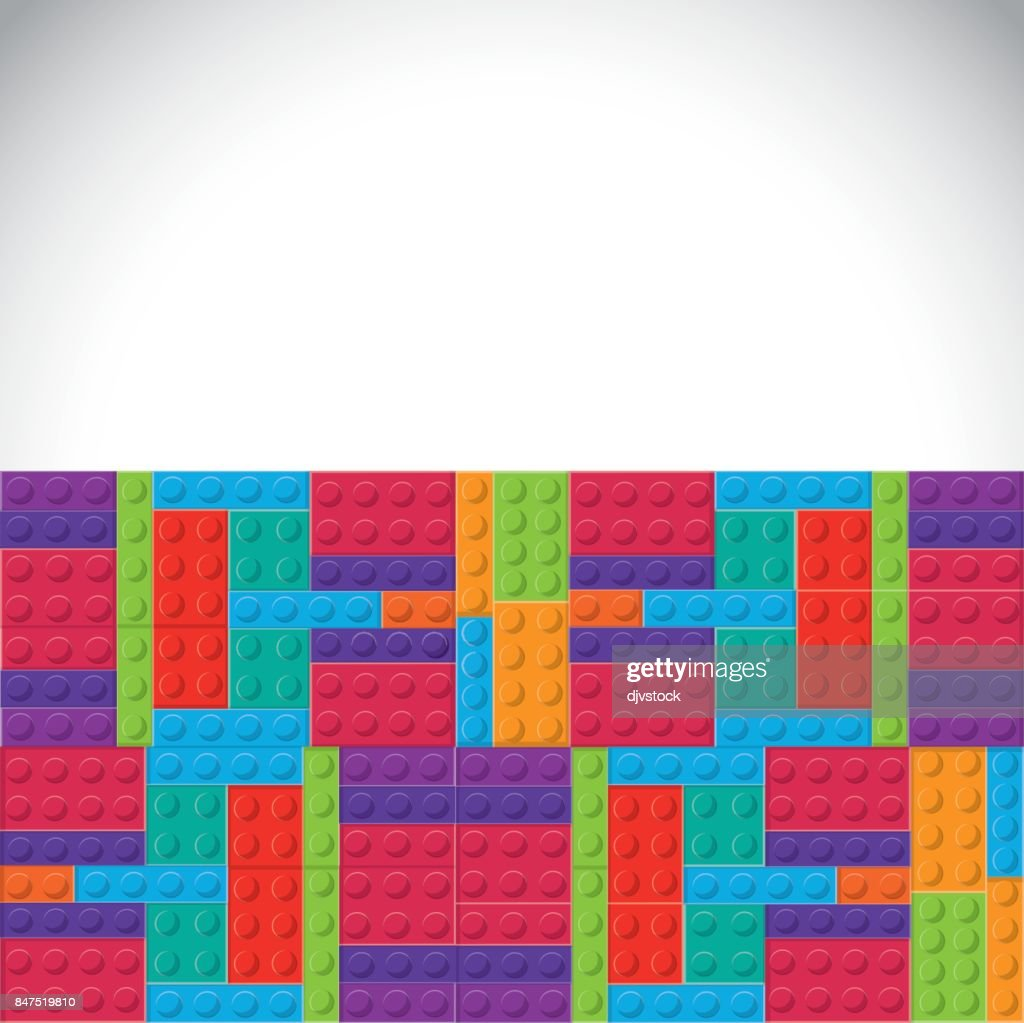 Lego icon. Abstract figure. Vector graphic