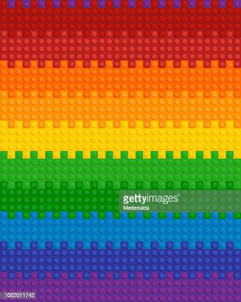 lego plastic toy vector seamless - building block stock illustrations