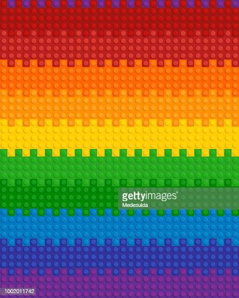 plastic block plastic toy vector seamless - multi colored background stock illustrations