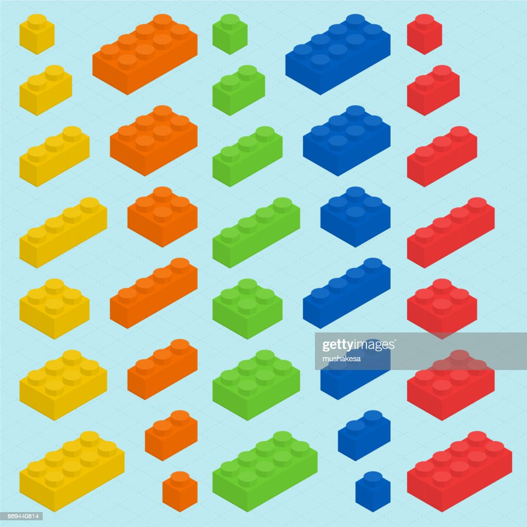 Plastic blocks set