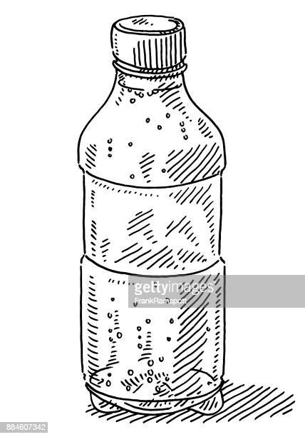 Plastic Bottle Mineral Water Drawing