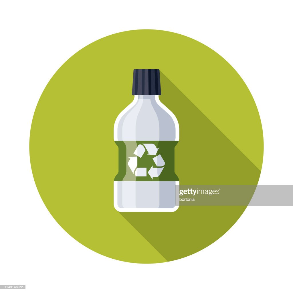 Plastic Bottle Recyclables Icon : stock illustration