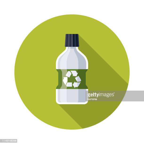 plastic bottle recyclables icon - mouthwash stock illustrations