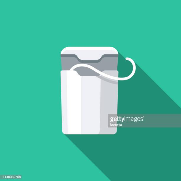 plastic dental floss container icon - dental floss stock illustrations
