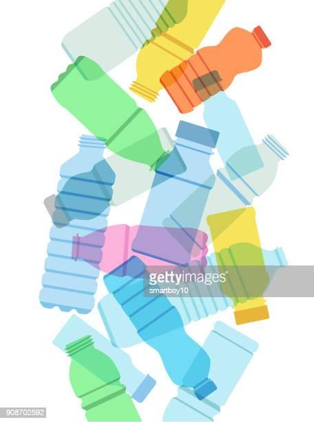 kunststoff-getränkeflaschen - recycling stock-grafiken, -clipart, -cartoons und -symbole