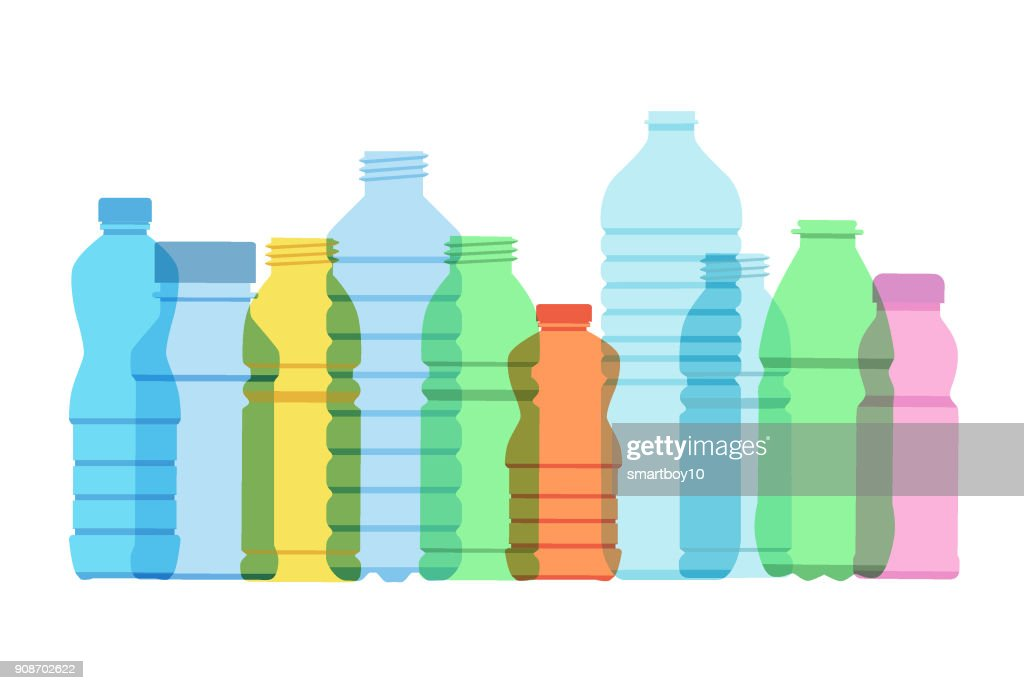 Plastic Drinks Bottles : stock illustration