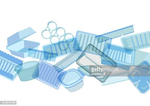 Kunststof voedselcontainers, laden of verpakking
