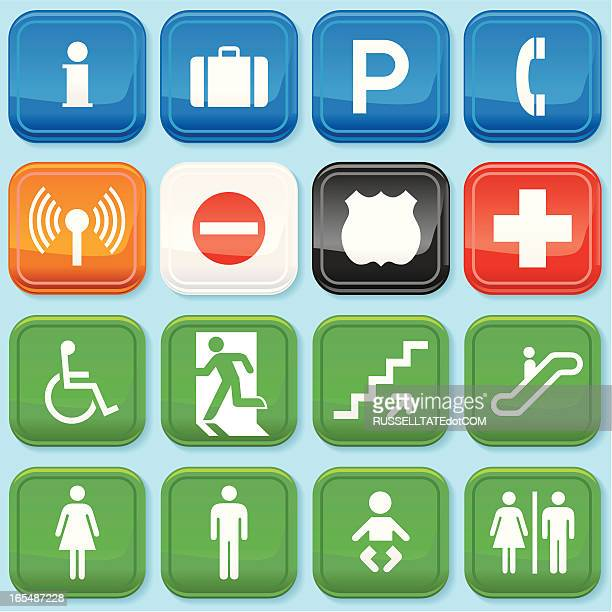 plastic info icons - information symbol stock illustrations, clip art, cartoons, & icons