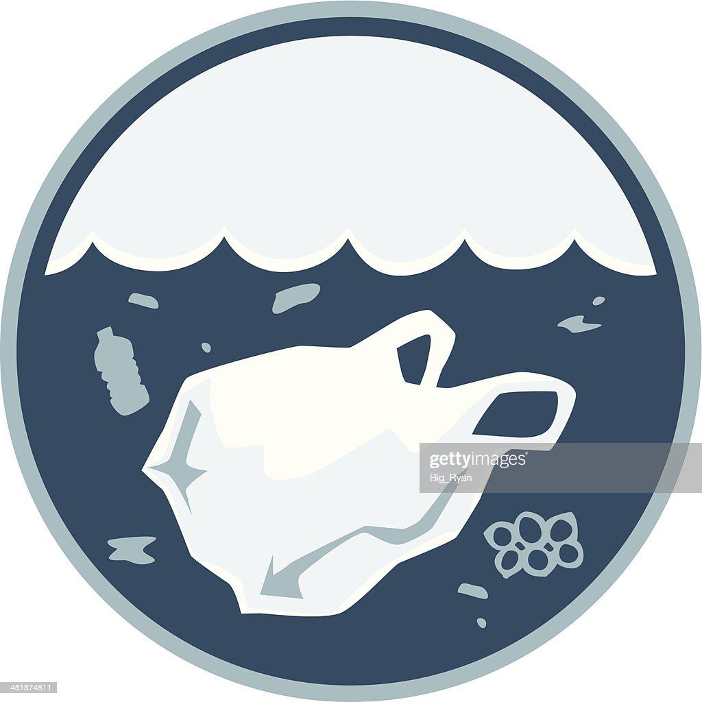 plastique de la pollution de loc233an clipart vectoriel