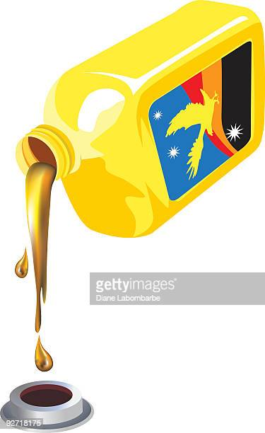 plastic quart of oil bottle being poured. - pouring stock illustrations, clip art, cartoons, & icons