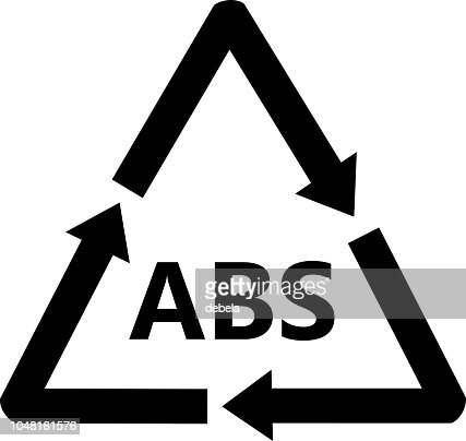 Abs Plastic Recycling Sign Acrylonitril Butadieen Styreen