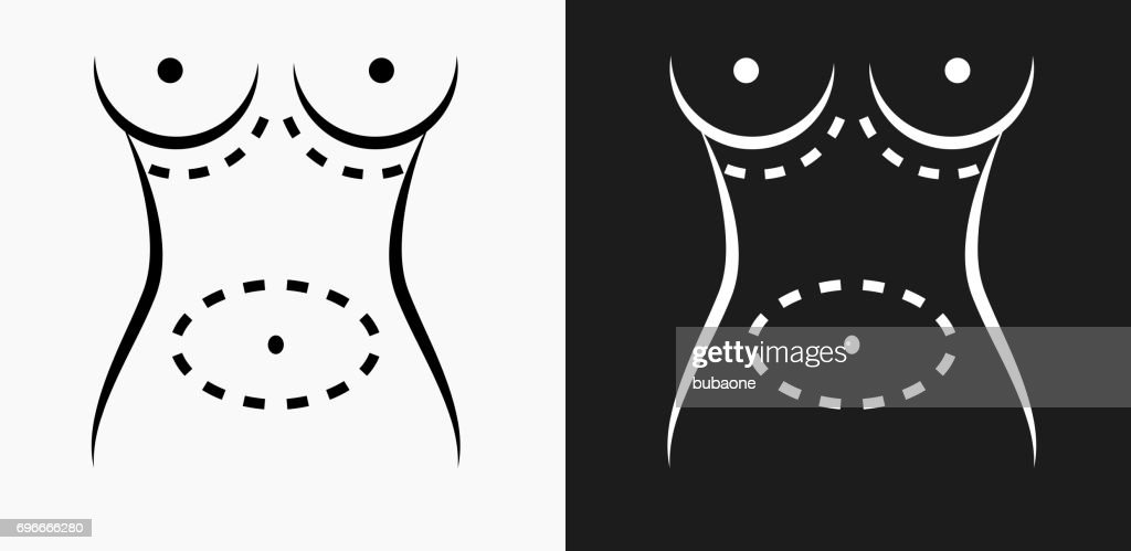 Plastic Surgery Icon On Black And White Vector Backgrounds Vector ...