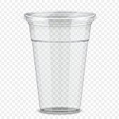 Plastic takeaway cup