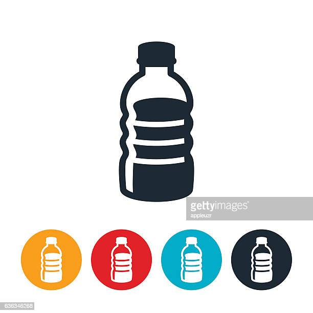 plastic water bottle icon - water bottle stock illustrations, clip art, cartoons, & icons